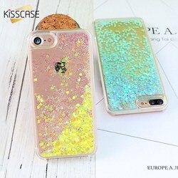 KISSCASE Quicksand PC Cas Pour iPhone 8 7 6 s 6 Plus 5 5S 5C SE 4S Cas Pour Samsung galaxy S8 S8 Plus S6 Bord S7 S4 S5 A510 A710