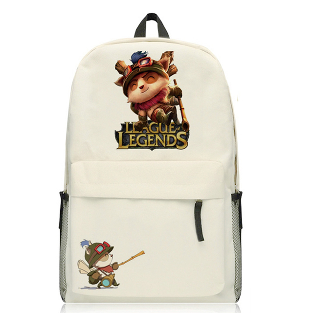 Game LOL Backpack Teemo Rammus Cosplay Shoulders Bag Student Books School Rucksack Canvas Package Men