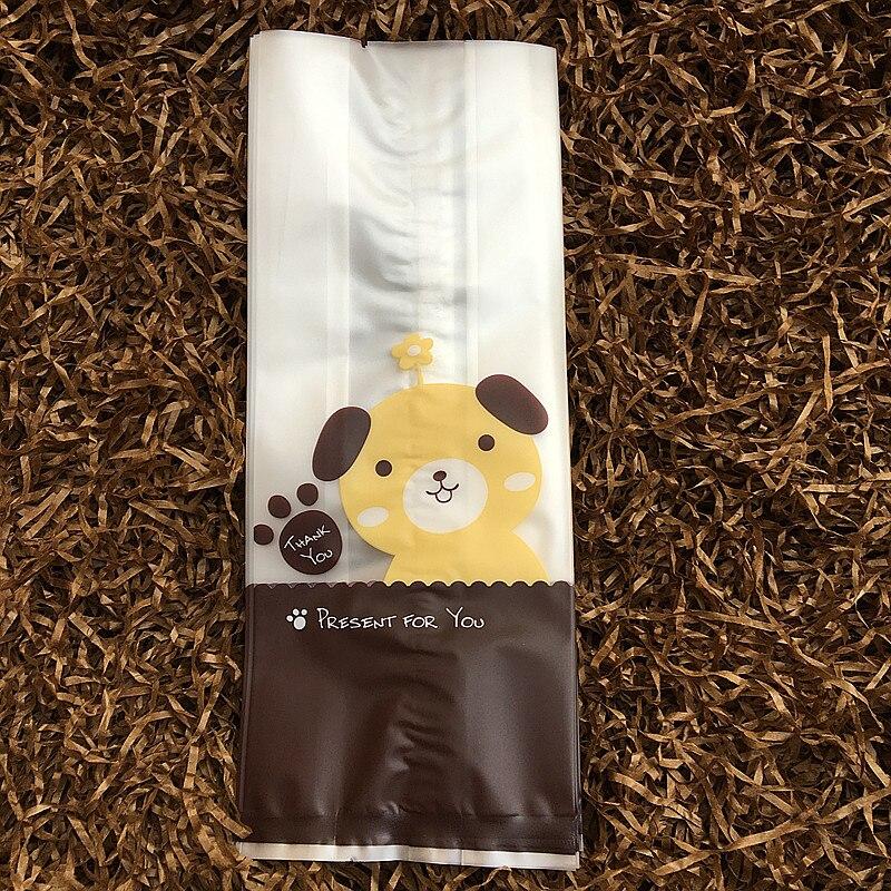 (50 Teile/los) Nur Taschen, Gelb Hund Cookie Tasche, Für Lebensmittel Süßigkeiten Kuchen Geschenk Verpackung, Geburtstagsfeier Süßigkeitstaschen üBerlegene Materialien