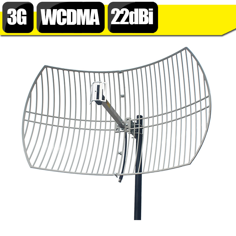 20dBi à Gain élevé 3G WCDMA UMTS 2100 mhz antenne de grille externe N antenne extérieure femelle pour répéteur de Signal de téléphone portable