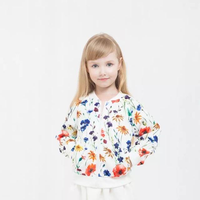 Novatx niños 2017 nueva ropa de abrigo y abrigos niños jackest para niñas ropa ropa de béisbol chaqueta de flor tops bebé ropa de niña