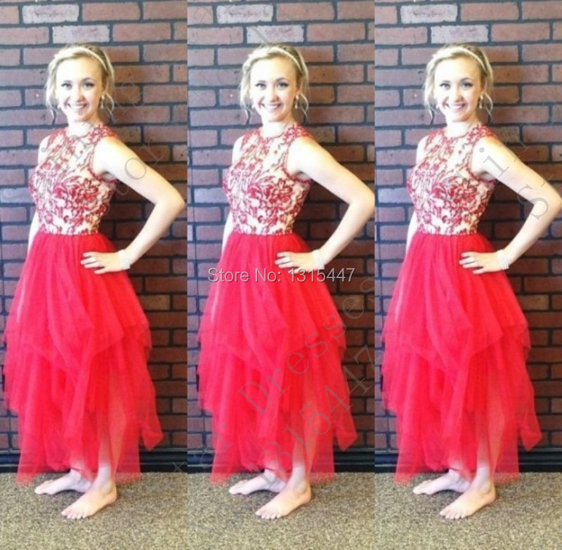 Elegant Red Prom font b Dresses b font Fast Shipping Vestidos De Formatura Beaded Tulle Long