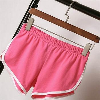 2020 Women Summer Shorts Casual Shorts Workout Slim Famme Loose Cotton Elastic Waist Short Waistband Skinny Short 2