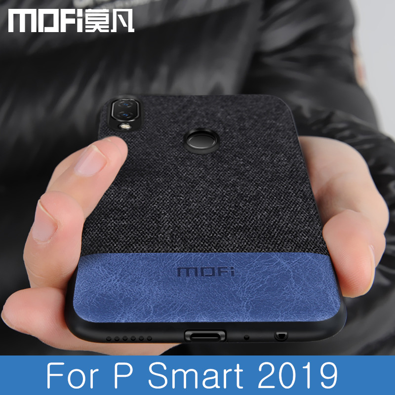 Para Huawei P 2019 Inteligente caso tampa traseira à prova de choque capa de tecido pano de proteção casos capas Psmart 2019 caso MOFi originais