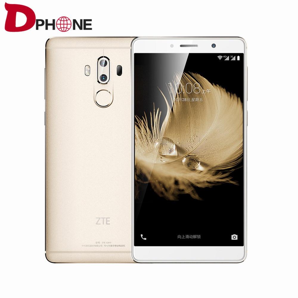 "Цена за Бесплатный случай оригинальный zte axon 7 макс 6.0 ""Snapdragon 625 Android 6.0 4 Г TD LTE смартфон 4 ГБ RAM 64 ГБ ROM 20MP отпечатков пальцев HIFI"
