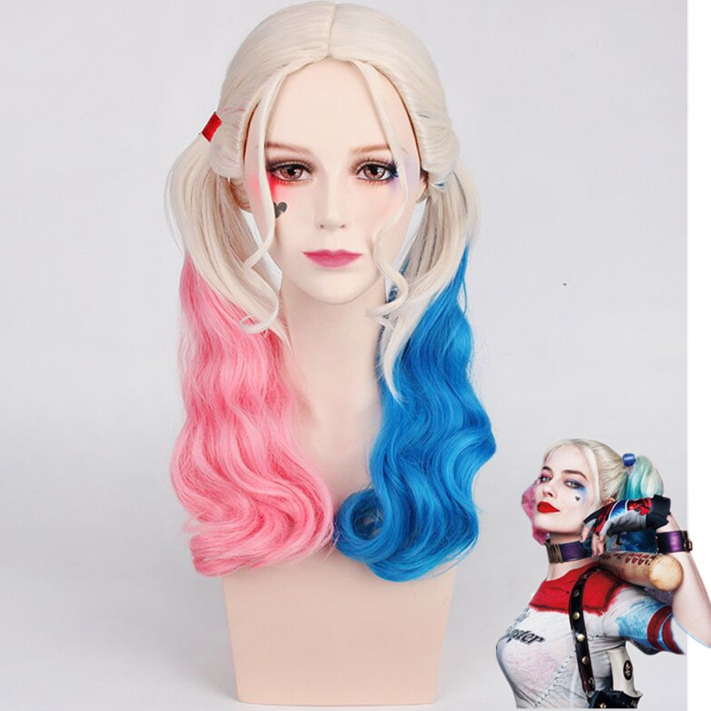 Movie Suicide Squad Harley Quinn Wig Cosplay Costumes Cosplay Joker Wigs Headgear Accessories Wigs Costume In Women Girls Party