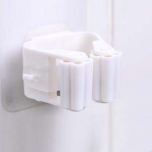 Image 5 - 1/2/5Pcs ผู้ถือไม้กวาดไม้กวาดติดผนังผู้ถือในครัวเรือนไม้กวาดแขวน Hook Racks ห้องครัวห้องน้ำ Organizer