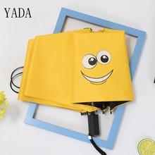 YADA Custom Funny Smiley Face Creative Windproof Reinforced Sunscreen Parasol Folding Umbrella Cartoon Waterproof YS335