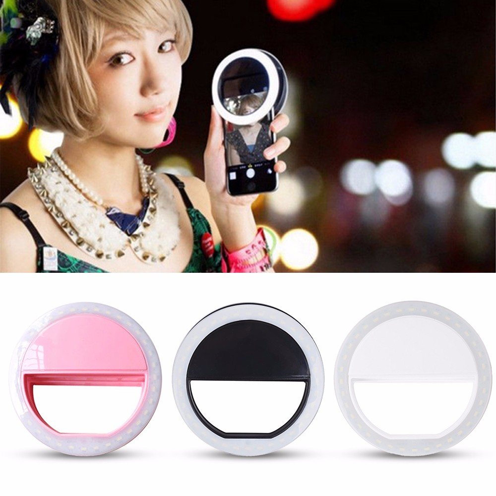 Practical and Portable Selfie Flash LED Phone Camera Ring Light For Apple Iphone Samsung HTC 1