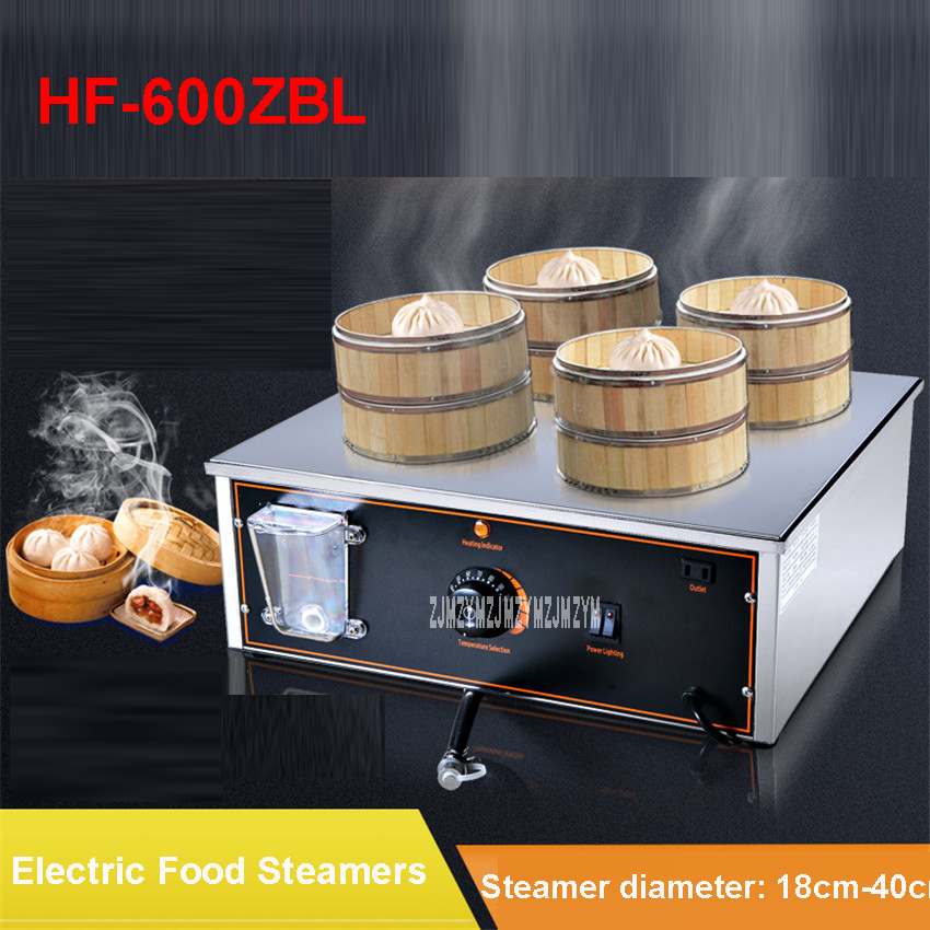 HF-600ZBL Electric desktop steamed buns machine insulation steaming pots small steamer business equipment 220V/2300W 18cm-40cm gas welder steam blower machine thread steaming machine zy gs107