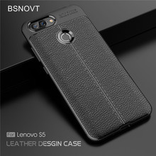 BSNOVT For Lenovo S5 Case Cover Soft Silicone TPU Leather Shockproof Phone Fundas 5.7}