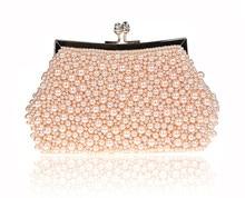 Wunderschöne Imitation Perle Frauen Abendtaschen Umhängetaschen Strass Perlen Hochzeit Kupplung Taschen