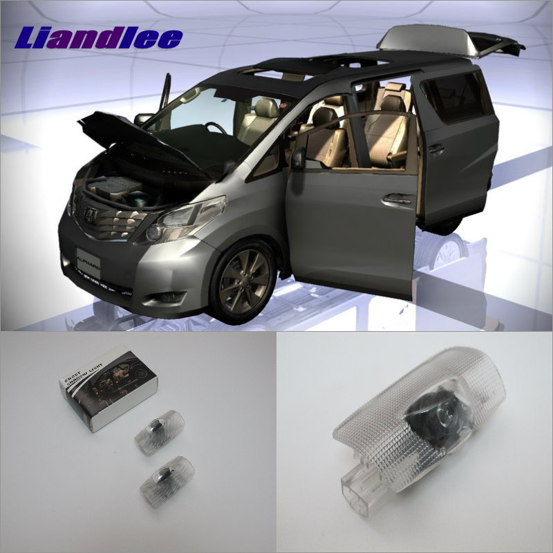 Liandlee LED Car Logo Light Door Welcome Lights Ghost Shadow Projector Lamp For Toyota Alphard 2011~2014 Courtesy Doors Lamps