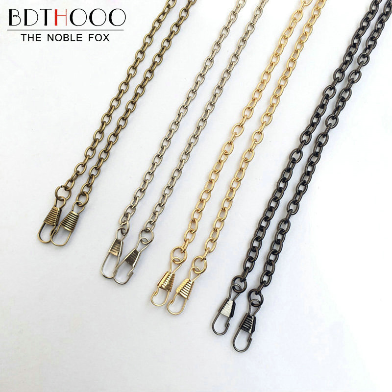 BDTHOOO 10pcs/lot 120cm Replacement Metal Chain Strap For Shoulder Bag Handbag Antique Handle DIY Bag Strap Accessories Hardware