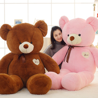 80cm plush ribbon teddy bear 100% cotton padded plush toy animal toys children gift plush pillow pacify teddy bear