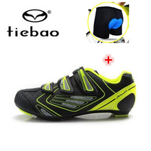 TIEBAO Cycling Shoes add underwear Professional Athletic Bicycle Men Sports Ciclismo Shoe Road Bike Cycle Ridding Athletic Shoes