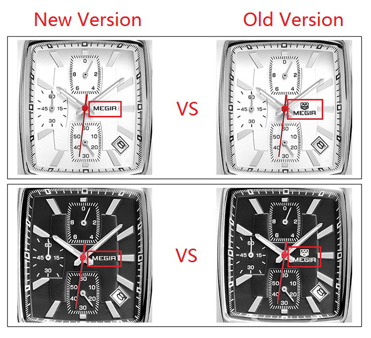 MEGIR Original Watch Men Top Brand Luxury Rectangle Quartz Military Watches Waterproof Luminous Leather Wristwatch Men Clock 6