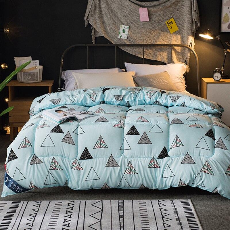 new thicken winter comforter microfiber edredon quilted thicken bedding duvet printed keep warm. Black Bedroom Furniture Sets. Home Design Ideas