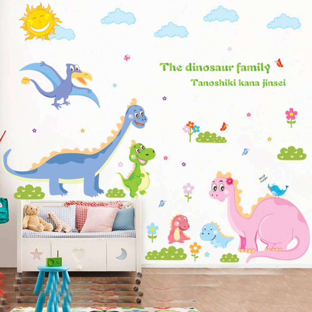 compare prices on wall giant stickers online shopping buy low diy giant dinosaur wall stickers for kids removable children bedroom wall decals living room wall pictures