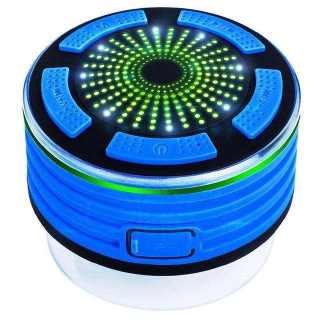 Душа Радио Колонки Портативный IPX7 Водонепроницаемый Bluetooth Динамик f013 открытый мини столбец с встроенным fm-радиоприёмником Радио СВЕТОДИОДНЫЕ Фары Настроение