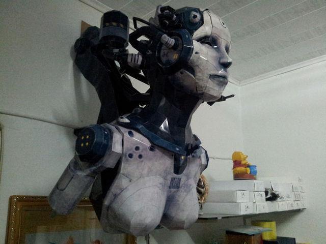 1 M de altura tamanho Enorme Estrela Terran Ajudante de Modelo De Papel 3D Kits Para Crianças de Adultos Jogo Robôs Papel Modelos De Brinquedos Hobby
