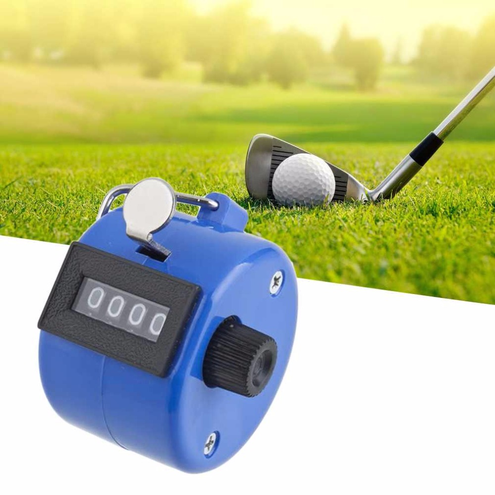 Tally-Counter Mechanical-Clicker Digital Manual-Number Chrome Blue Golf-Pitch Handheld