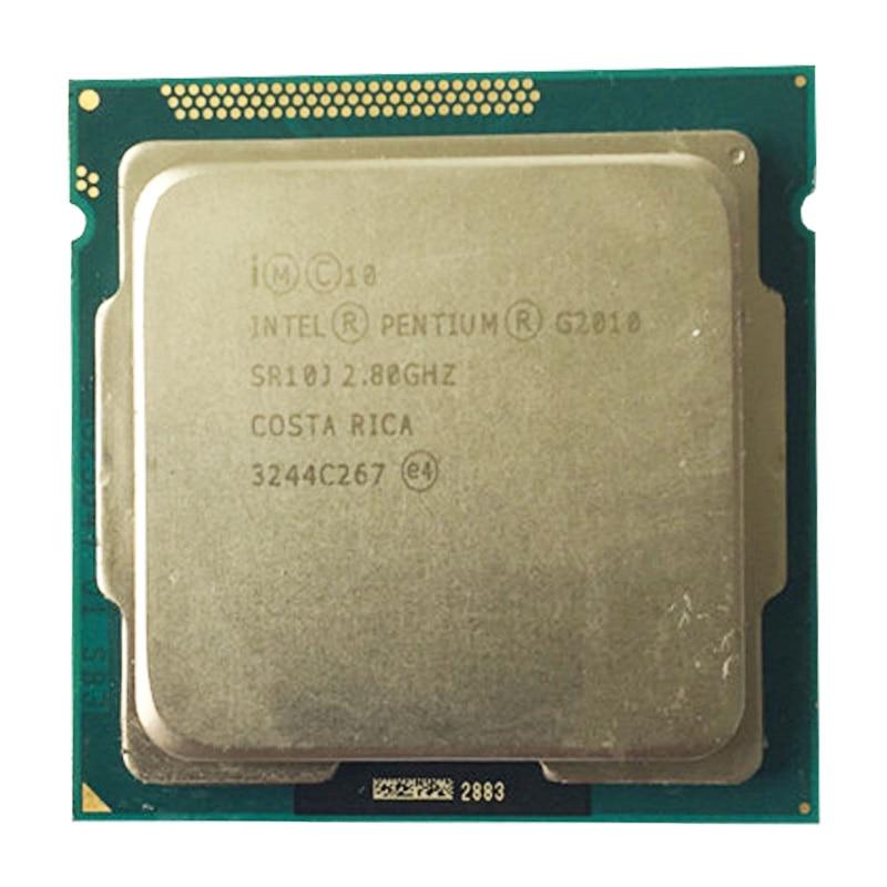 Intel G2010 Dual-core CPU LGA1155/2.8Ghz Compatibility H81 B85 B75 Motherboard Pentium Dual Core G2010 Processor