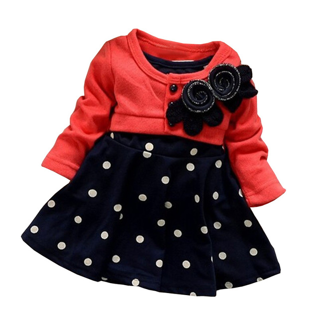 bibicola 100 cotton baby girl christmas dresses clothes kids childrens lovely princess two tones splicing - Girl Christmas Dresses