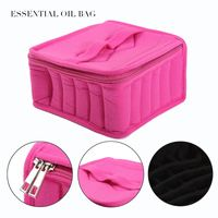 36 Bottles Essential Oil Essential Oil Bag Carrying Case For Traveling Sturdy Double Zipper Contain 5ml