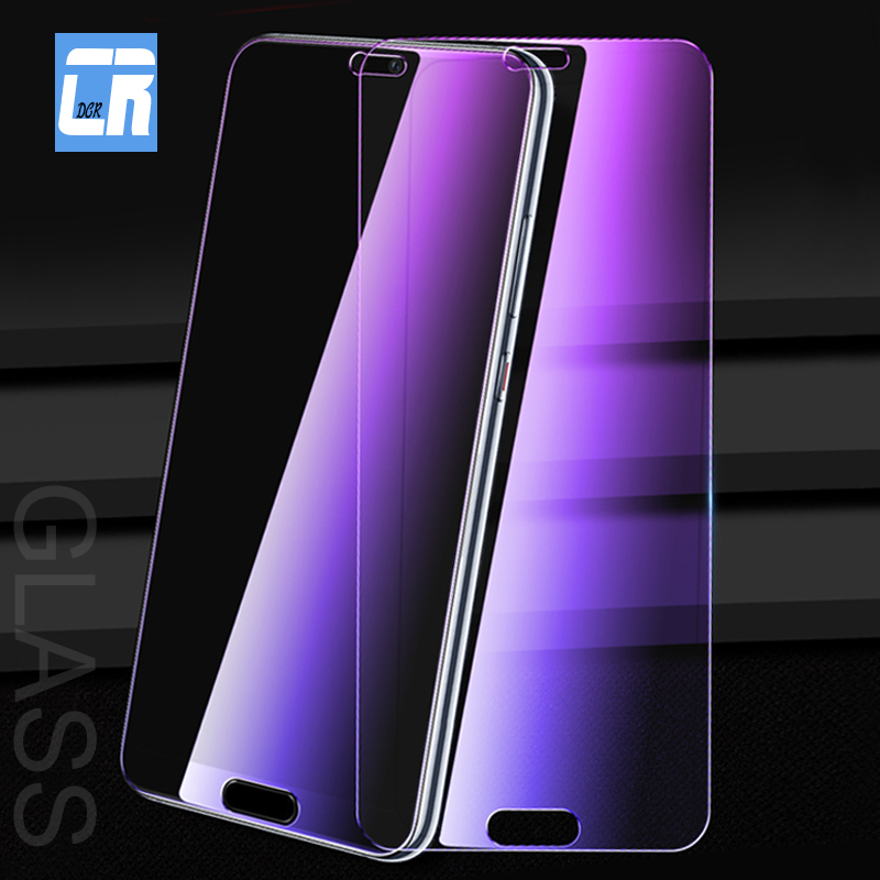 9H Purple Light Full Cover Tempered Glass For Huawei P20 Lite Mate 10 Pro Honor 7x 8X 9i Nova 3i 3e 2S Screen Protective Glass