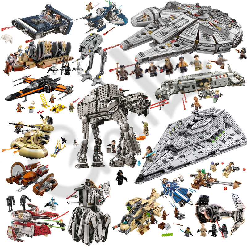 2019 NEW Star Wars Rancor Pit Destroyer Costruzion Tauntaun Warship Microfighters Building Block Toys Compatible with legoing