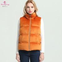 Yuxinfeng 3XL Plus Size Thick Cotton Vest Women Zipper Velvet Vest Sleeveless Lady Waist Coat female coat Jacket Solid Vests