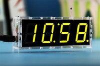 BTC565 4 Bits Digital Tube DIY Kit LED Electronic Clock Microcontroller LED Digital Clock Time Best