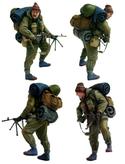 1/35 Resin Figure Red Army Machinegunner 1pc Model Kits