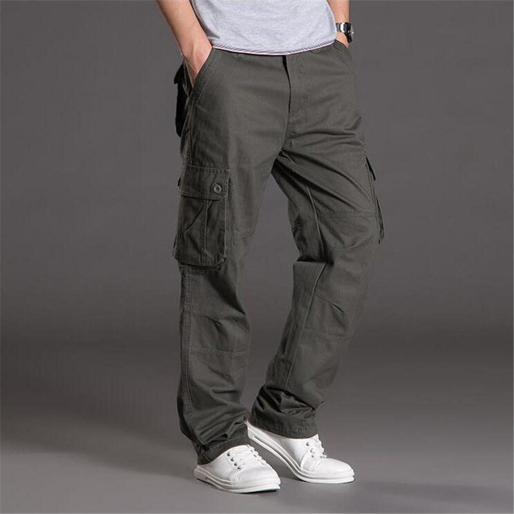 ROSICIL Men Trouser Male Army Style Big Size Plus Elderly Baggy Jogger Big yard leisure pants mens work ...