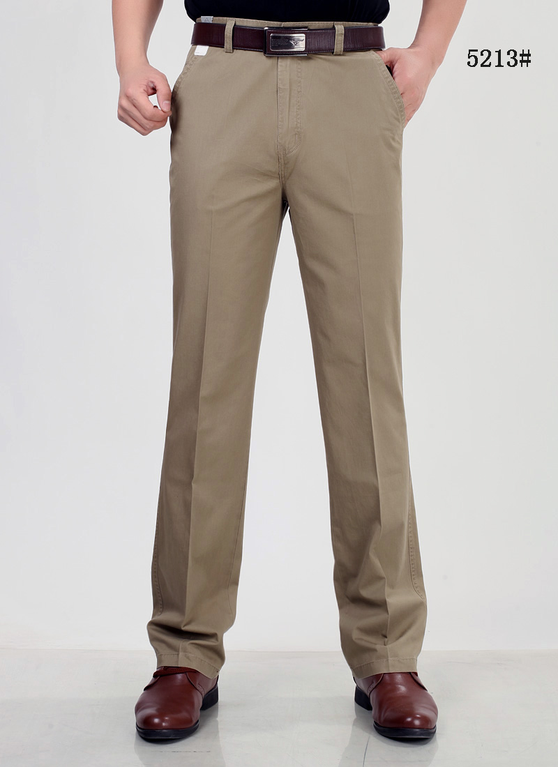 Pants Men Size29-42 Spring Autumn Straight Pant 100% Cotton 55-120 kg Men Wear Comfortable warm Trousers Male Clothing