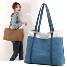Fashion Coloured , Simple Single Shoulder , Leisure Canvas , Literature and Art Fan Baitao Chao bag