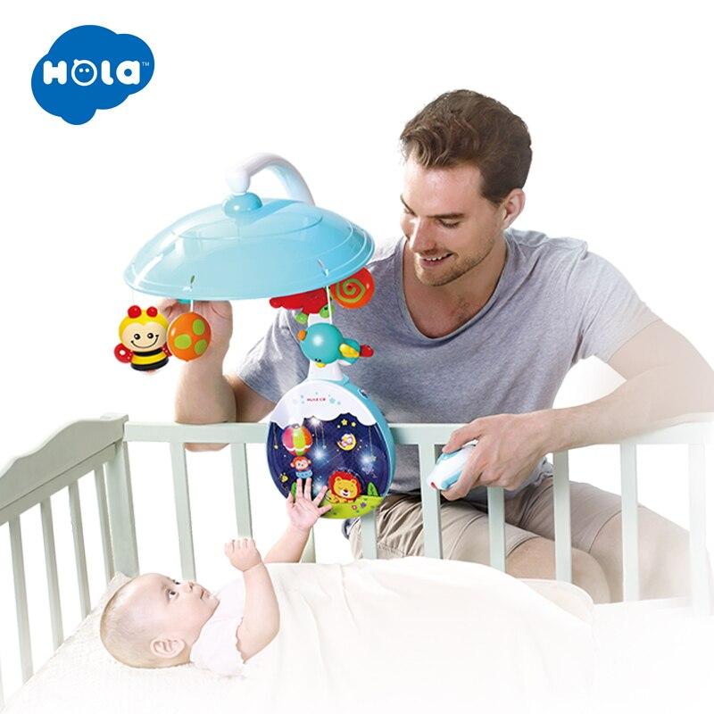 HOLA 1105 nouveau arrivé 5 pièces/ensemble ABS ensemble bébé berceau Mobile lit cloche support de jouet bras support pépinière musique amour bébé hochets