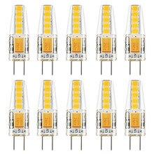 10 pces g4 lâmpada led 12 v ac dc led g4 2 w branco natural 4000 k lâmpada 10led 2835smd substituir 20 w halogênio dustproof à prova de choque