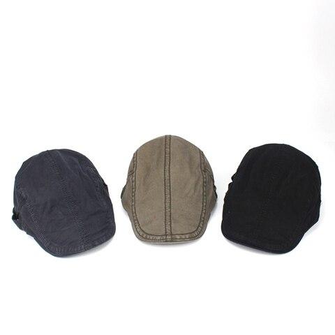 Adjustable Man Beret Caps Spring Summer Outdoor Sun Breathable Bone Brim Hats ailor Gorras Patrol Caps Fashion Male Hat Beret Lahore