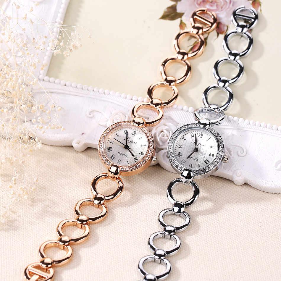Reloj de pulsera de plata y oro de marca lvpai para mujer, reloj de cuarzo para regalo, reloj digital de lujo 40Q