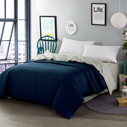 Blue and gray Home textile sided duvet cover 100% cotton bed comforter cover 150*200, 180*220cm, 200*230cm, 220*240cm size soft