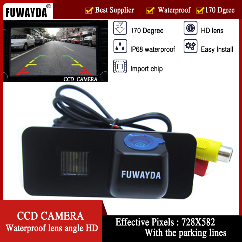 FUWAYDA Car Rear View camera 170 Degree Wide Viewing Angle Reverse car Camera FOR VW GOLF4 5 6 MK4 MK5 EOS LUPO BEETLE Superb