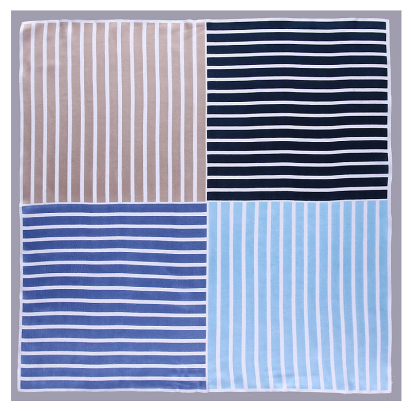 2020 New Fashion Striped Square Scarf Luxury Brand Bandanna Silk Scarf Women Head Band Plaid Scarf Professional Neckerchief