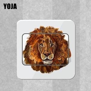 YOJA Лев интересный художественный переключатель с животным стикер на стену магический декор комнаты чудесный крутой 14ss0114