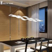 波デザインシャンデリア黒、白シャンデリアライト現代シャンデリア led 照明 ac 85 260 v 100 センチメートル 120 センチメートル