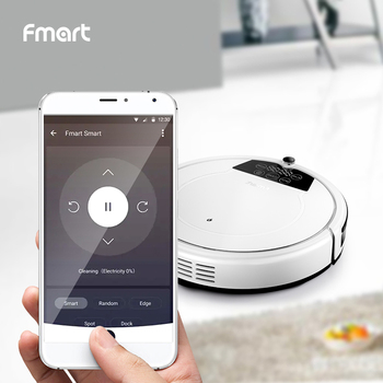Robot Vacuum Cleaner E-R550W(S) WIFI Control Home Automatic Sweeping Dust Sterilize Smart Planned&Self-Loading Wet Mop for Floor