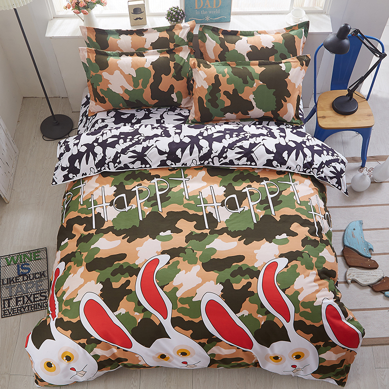 Aliexpress.com : Buy New Printed Cute Pug Bedding Sets Bed Sheet Quilt Duvet Cover Pillowcase ...