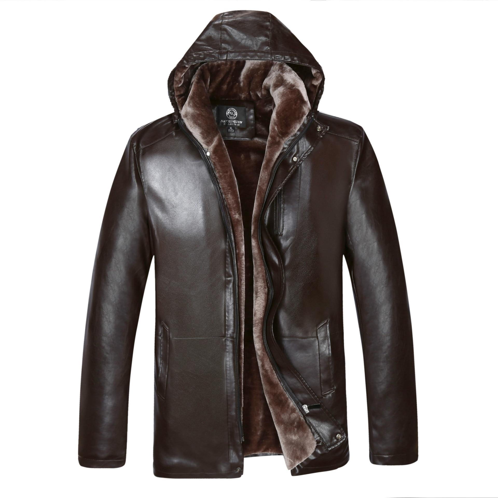 2015 hombres PU chaqueta de cuero de moda transversal