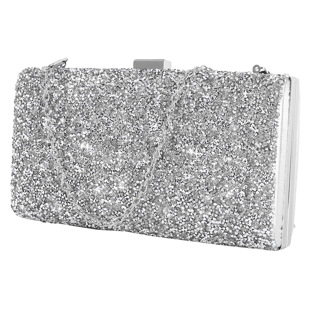 5cb179f34d Women Evening Clutch bag Women Diamond Rhinestone Clutch Crystal Day Clutch  Wallet Wedding Purse Party Banquet Black/Gold/Silver | Fancy Bag Lady